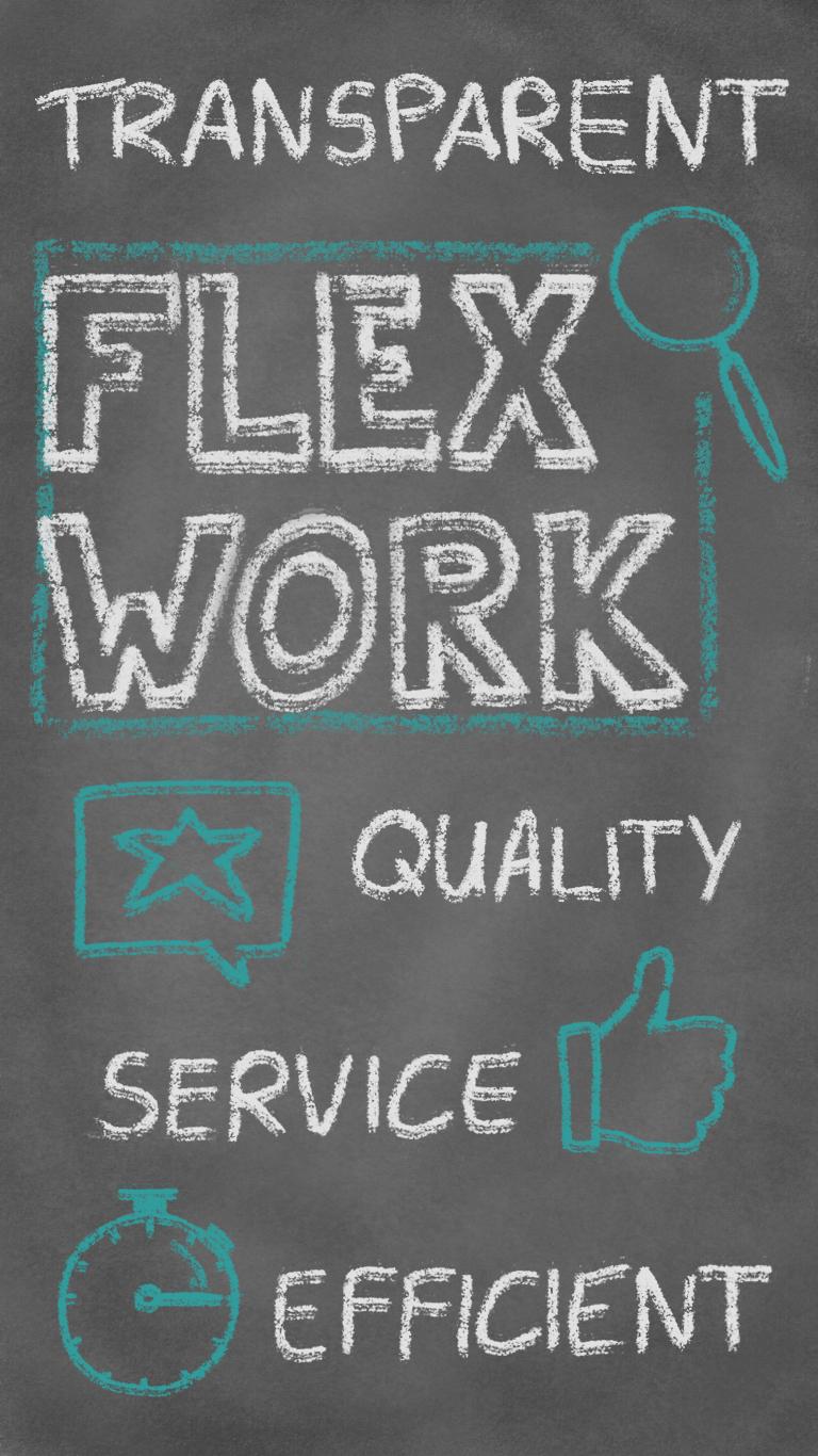 Flexwork, Transparenz, Qualität, Service, Effizienz